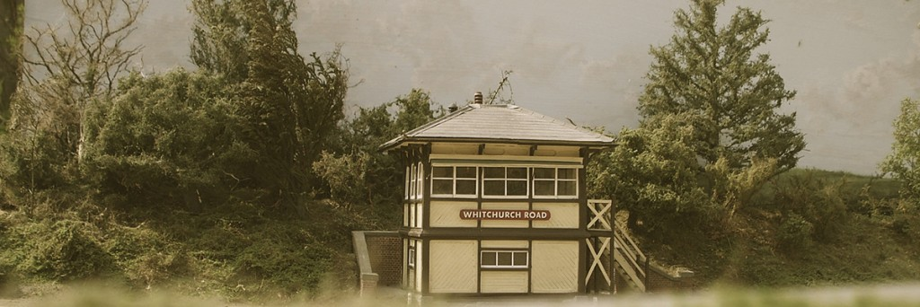 A Metropolitan Railway signal box surrounded by trees