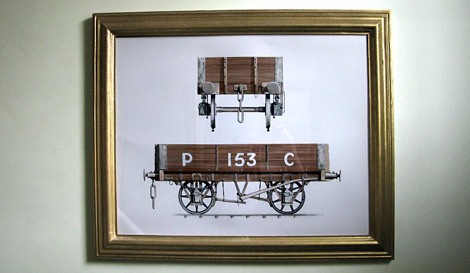This privately owned colliery wagon probably dates from the 1870s