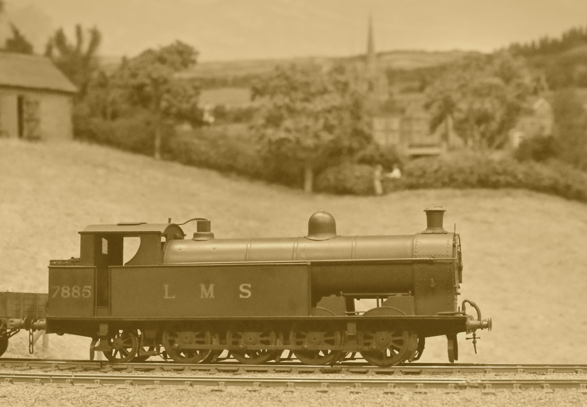 Jack Anziani brought this ex North Western 6F-A 0-8-2T No 7885 which was essentially a Super D side tank. The Bowen-Cooke designed workhorse was built at Crewe at the end of September 1915, with Joy sllde valves and 27,240lbs of tractive effort.