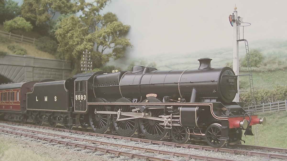 Stanier Jubilee No 5593 Kolhapur was built at Glasgow by North British in 1934, named after an area of western India.