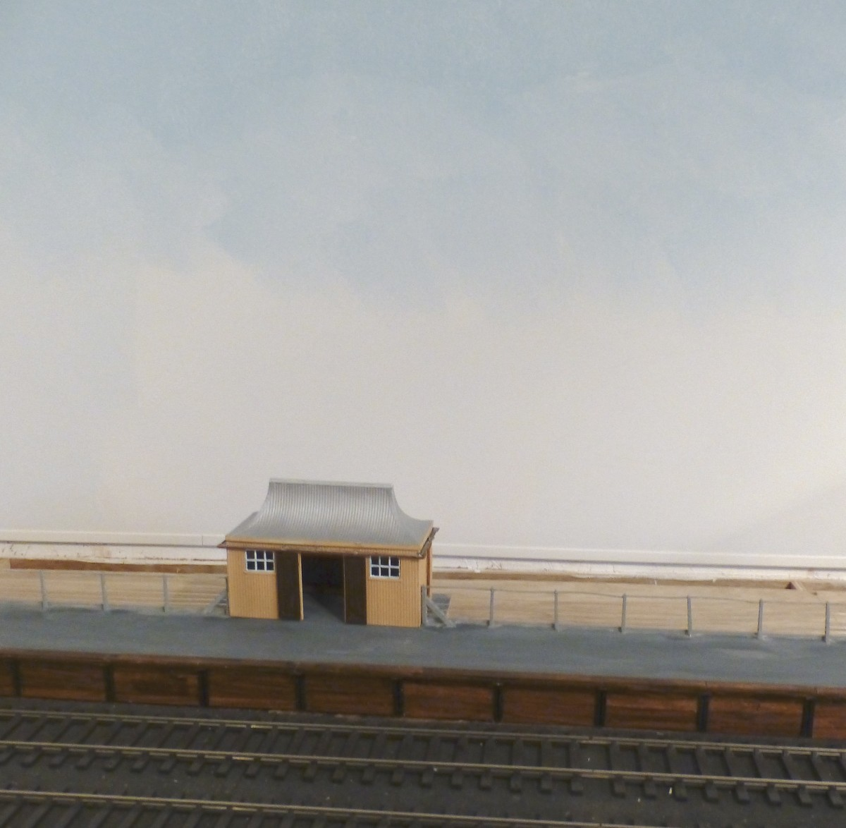 Progressive sky base graduation on Welford Park's new backscene.