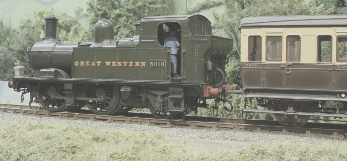 No 5818 was permanently on hand to run the daily branch line duties up and down the Golden Valley line until its eventual closure. The Collett 0-4-2T was built in August 1933 and arrived for work at Pontypool Road few months later. It soon became the favourite of the resident driver Charlie Smith who had a habit of taking photos of the day to day activity up and down the line with his black & white camera