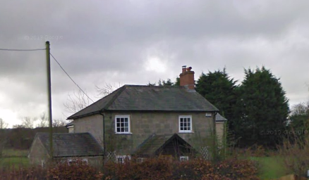 Farm cottage near Semley station bridge.