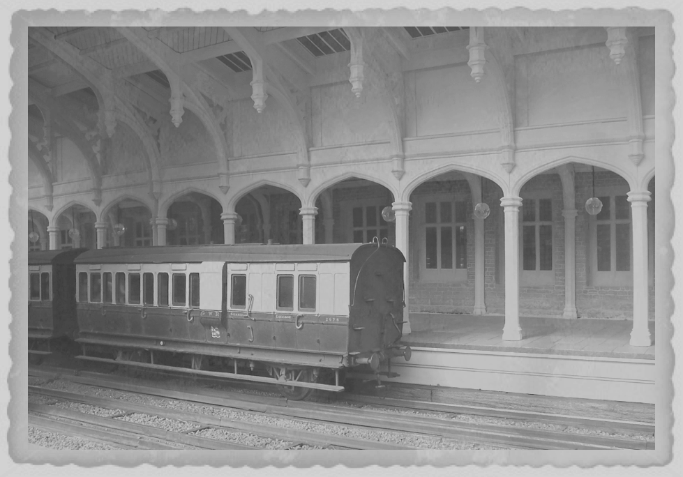 Temple meads carriages, with serrated border.