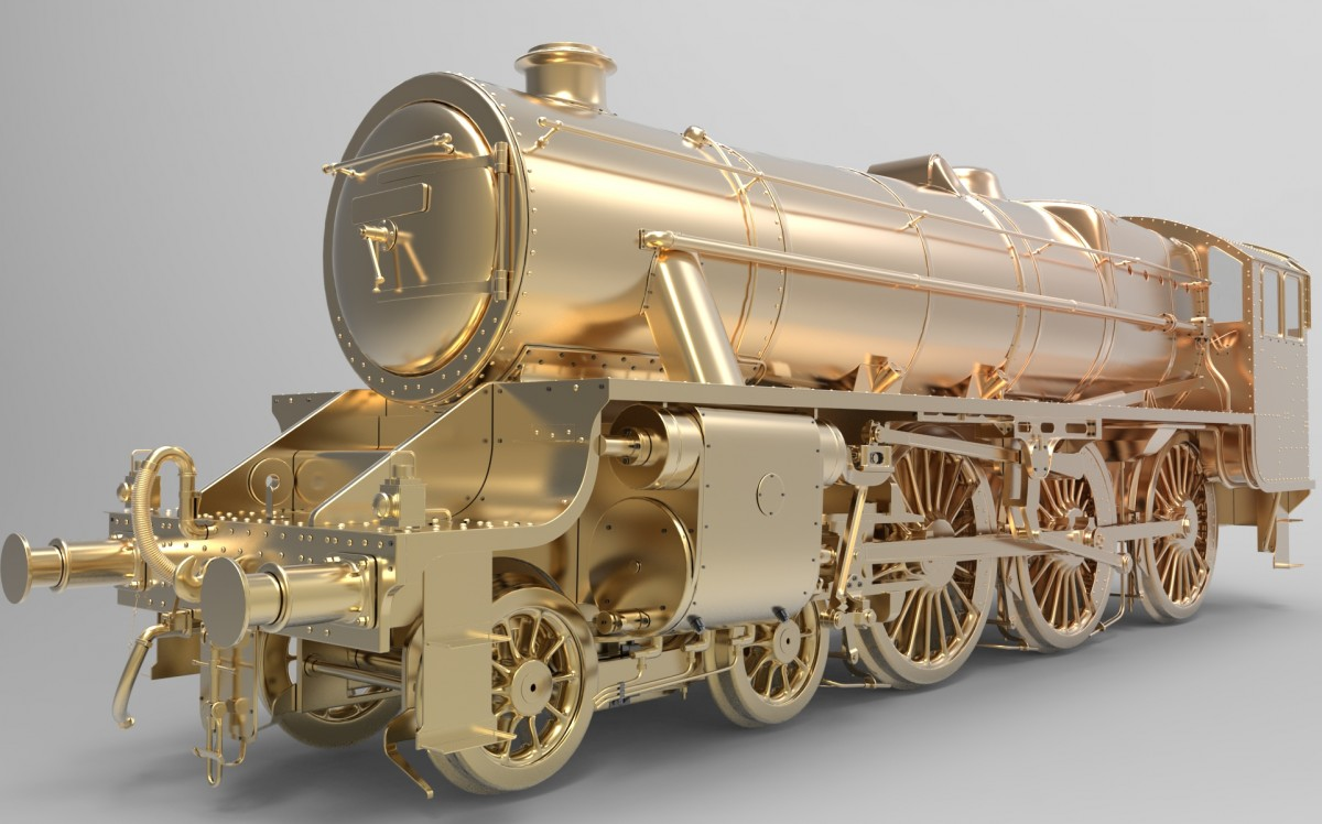 Matei's exquisite 3D study render of a Stanier Black 5