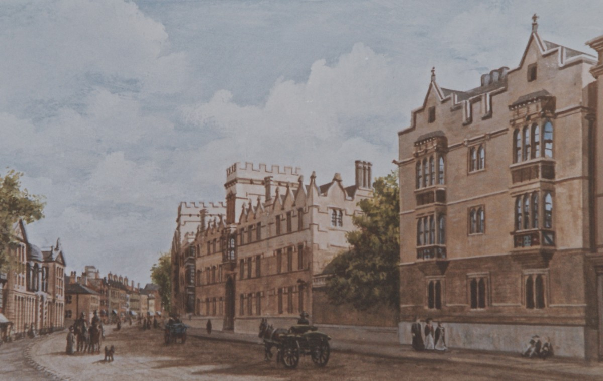 University College Oxford as it used to look In shadow, on the south side of The High.