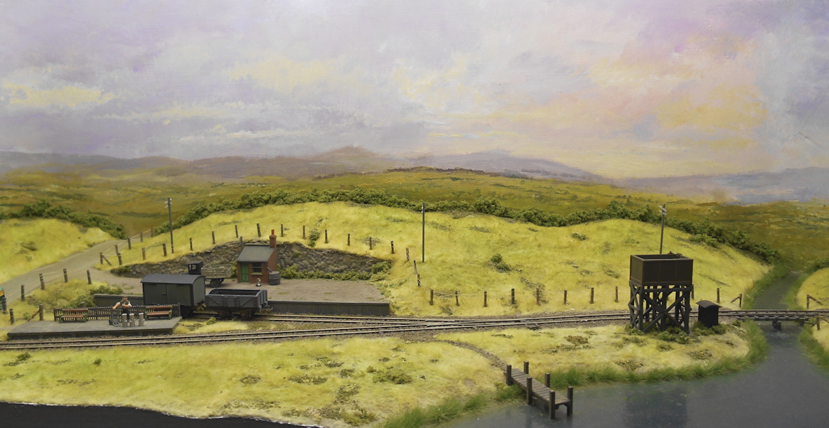 I'll let Anthony's picture do the talking, for Iain this obviously made the perfect balance of railway in the landscape. Neither one overpowers the other, and