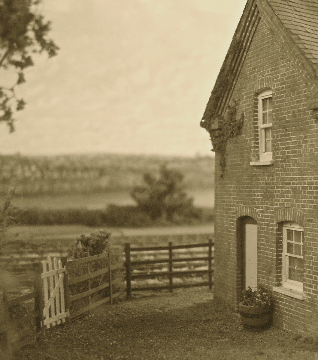 The back wall of a crossing keeper's cottage in the Vale, alongside the Aylesbury and Buckingham Railway
