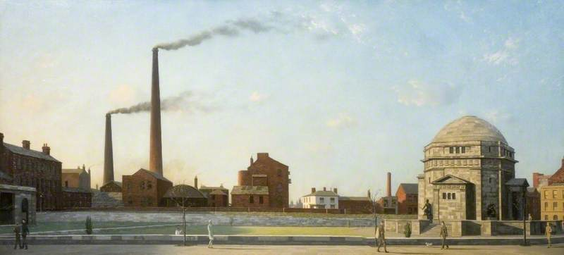 Newton, Algernon Cecil; Birmingham with the Hall of Memory; Birmingham Museums Trust; http://www.artuk.org/artworks/birmingham-with-the-hall-of-memory-33984